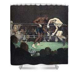 Boxing Match, 1910 Shower Curtain by George Luks