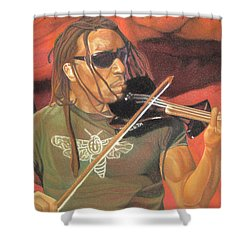 Boyd Tinsley At Red Rocks Shower Curtain by Joshua Morton