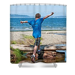Boyhood Fun Art Prints Shower Curtain