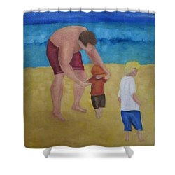Paul, Brady Gavin At The Beach Shower Curtain