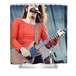 Brad Delp Of Boston-day On The Green 1 In Oakland Ca 5-6-79 1st Release Shower Curtain