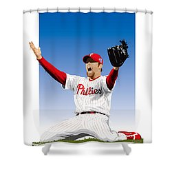 Brad Lidge Champion Shower Curtain