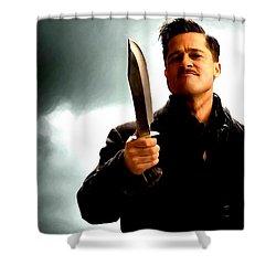 Brad Pitt @ Inglourious Basterds By Tarantino Shower Curtain