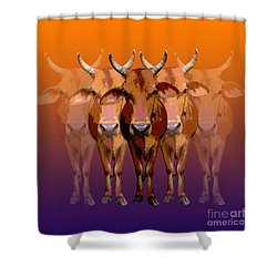 Brahman Cow Shower Curtain