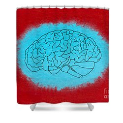 Brain Blue Shower Curtain