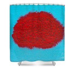 Brain Red Shower Curtain