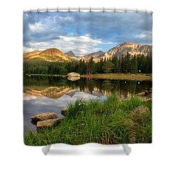 Brainard Lake Reflections Shower Curtain by Ronda Kimbrow
