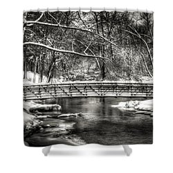 Brainards Bridge After A Snow Storm 3 Shower Curtain by Thomas Young