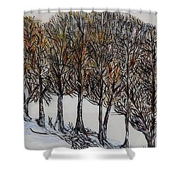 Shower Curtain featuring the painting Branch Broken by Marilyn  McNish