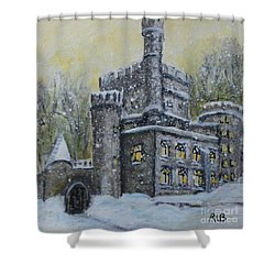 Brandeis University Castle Shower Curtain