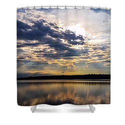Shower Curtain featuring the photograph Brandermill Sunset by Jean Haynes
