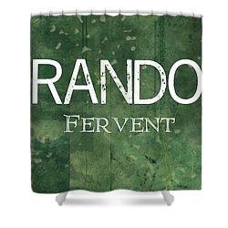 Brandon - Fervent Shower Curtain by Christopher Gaston