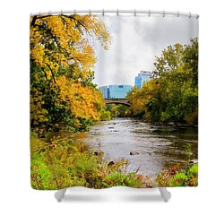 Shower Curtain featuring the photograph Brandywine Park by Trina  Ansel