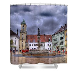 Bratislava Old Town Hall Shower Curtain