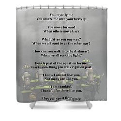 Brave Poem Shower Curtain