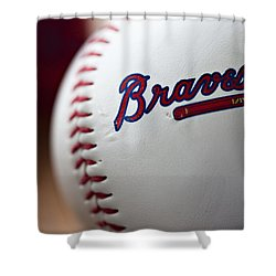 Braves Baseball Shower Curtain