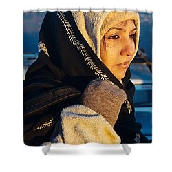 Shower Curtain featuring the photograph Braving The Cold by Fotosas Photography