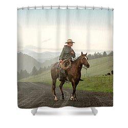 Braving The Rain Shower Curtain