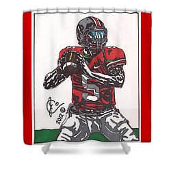 Braxton Miller 1 Shower Curtain by Jeremiah Colley
