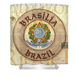 Brazil Coat Of Arms Shower Curtain