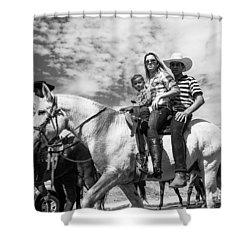 Brazilian Cowboys. A Family That Rides Shower Curtain