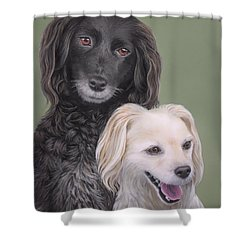Shower Curtain featuring the painting Brea And Randy by Jane Girardot