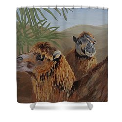 Shower Curtain featuring the painting Break Time by Karen Ilari