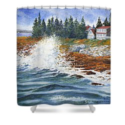 Breakers At Pemaquid Shower Curtain