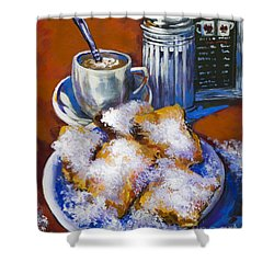 Breakfast At Cafe Du Monde Shower Curtain by Dianne Parks
