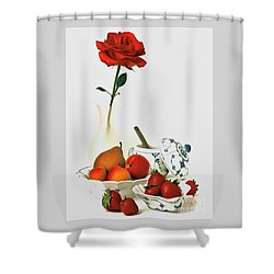 Breakfast For Lovers Shower Curtain