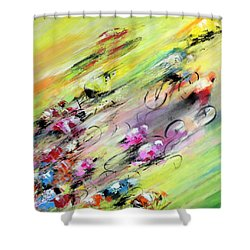 Breaking Away Shower Curtain by Miki De Goodaboom