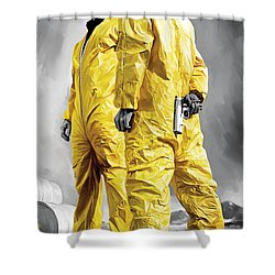 Breaking Bad Artwork Shower Curtain by Sheraz A
