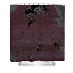 Shower Curtain featuring the digital art Breaking Bad Concrete Wall by Brian Reaves