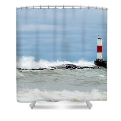 Shower Curtain featuring the photograph Breaking by Steven Santamour