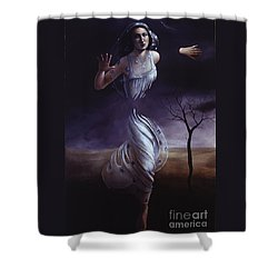 Breaking Through Shower Curtain by Jane Whiting Chrzanoska