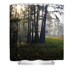 Breaking Through Morning Fog Shower Curtain