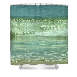 Breaking Wave Calm  Shower Curtain by John Wartman