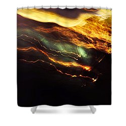 Breakthrough. Empowered By Light Shower Curtain by Jenny Rainbow
