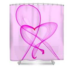 Breast Cancer Awareness . Love Shower Curtain by Renee Trenholm