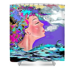 Just Breathe Shower Curtain