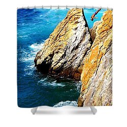 Breathtaking Free Fall Shower Curtain by Karen Wiles