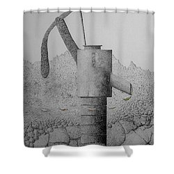 Breezing Into Blooms Shower Curtain by A  Robert Malcom