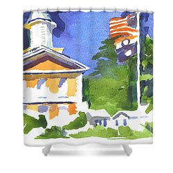 Breezy Morning At The Courthouse Shower Curtain by Kip DeVore