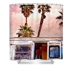 Breezy Palm Springs Shower Curtain by William Dey