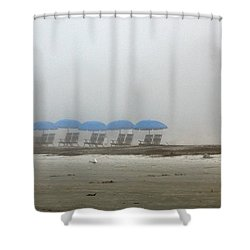 Shower Curtain featuring the photograph 'brella Pattern by Kay Lovingood