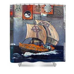 Brendan Voyage Shower Curtain