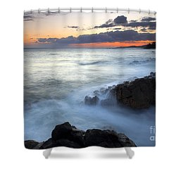 Brennecke Boil Shower Curtain by Mike  Dawson