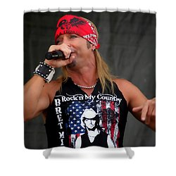 Bret Michaels In Philly Shower Curtain by Alice Gipson