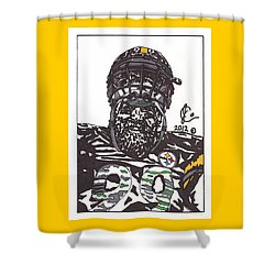 Brett Keisel 2 Shower Curtain by Jeremiah Colley