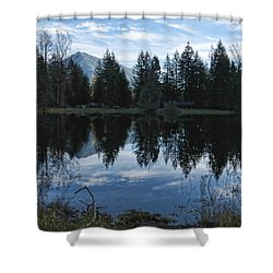 Brewster Lake North Bend Wa Shower Curtain